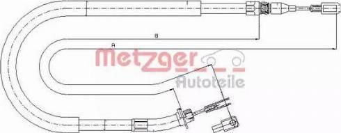 Metzger 10.9874 - Трос, стояночная тормозная система avtokuzovplus.com.ua