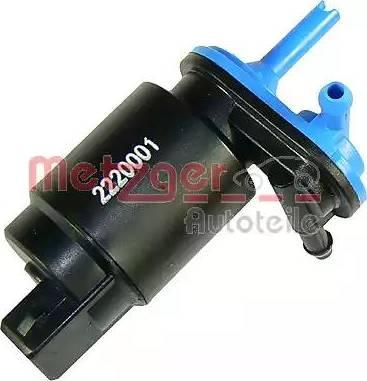 Metzger 2220001 - Водяной насос, система очистки окон car-mod.com