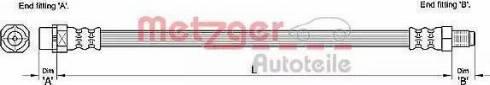 Metzger 4110271 - Тормозной шланг avtokuzovplus.com.ua