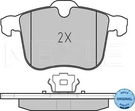 Meyle 025 234 0419 - Комплект тормозных колодок, дисковый тормоз autodnr.net
