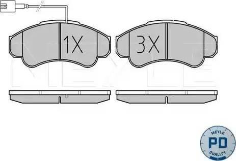 Meyle 025 239 1919/PD - Комплект тормозных колодок, дисковый тормоз autodnr.net