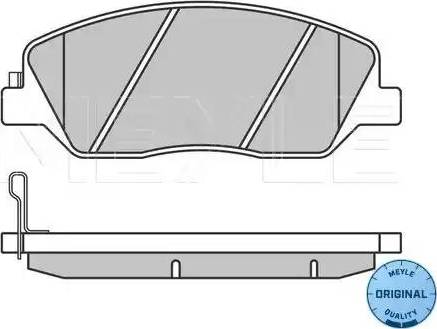 Meyle 025 243 5117/W - Комплект тормозных колодок, дисковый тормоз autodnr.net