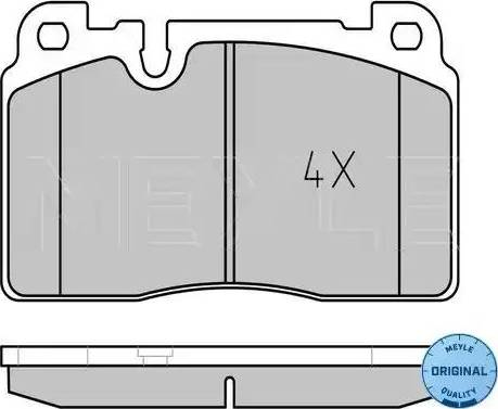Meyle 025 256 4316 - Комплект тормозных колодок, дисковый тормоз autodnr.net