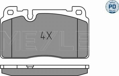 Meyle 025 256 4317/PD - Комплект тормозных колодок, дисковый тормоз autodnr.net