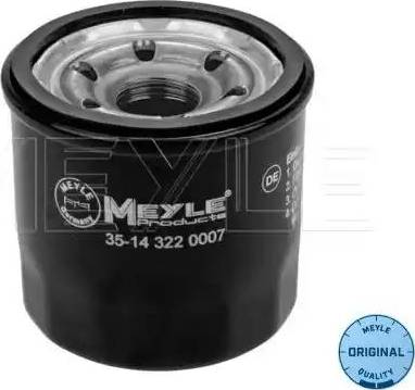 Meyle 35-14 322 0007 - Масляний фільтр autocars.com.ua