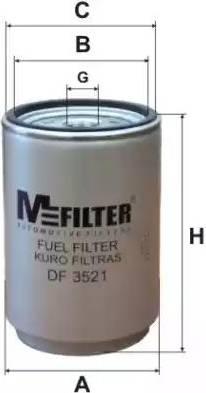 Mfilter DF 3521 - Паливний фільтр autocars.com.ua