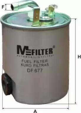 Mfilter DF 677 - Паливний фільтр autocars.com.ua