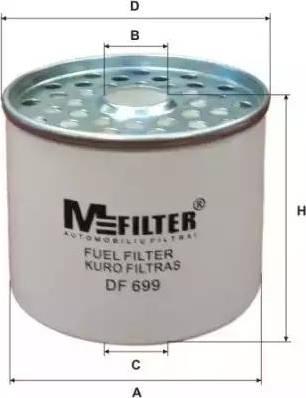 Mfilter DF 699 - Паливний фільтр autocars.com.ua