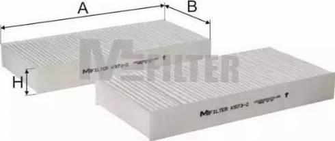 Mfilter K 973-2 - Фильтр воздуха в салоне car-mod.com