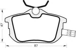 MGA 367 - Комплект тормозных колодок, дисковый тормоз autodnr.net