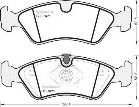 MGA 415 - Комплект тормозных колодок, дисковый тормоз autodnr.net