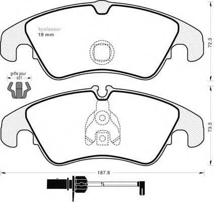 MGA 951 - Комплект тормозных колодок, дисковый тормоз autodnr.net