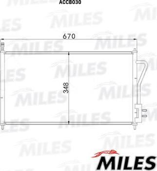 Miles accb030 - Конденсатор, кондиционер autodnr.net