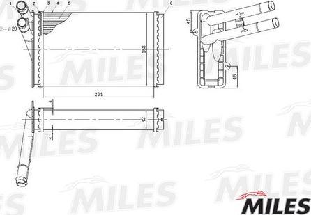 Miles ACHM003 - Теплообменник, отопление салона car-mod.com