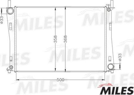 Miles acrb019 - Радиатор, охлаждение двигателя autodnr.net