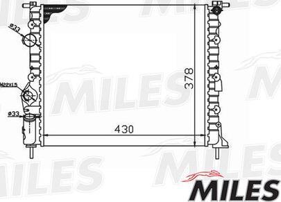 Miles acrm006 - Радиатор, охлаждение двигателя autodnr.net