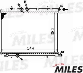 Miles acrm010 - Радиатор, охлаждение двигателя autodnr.net