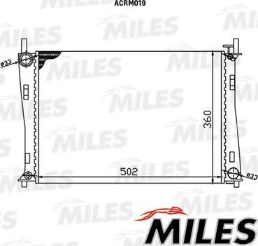 Miles acrm019 - Радиатор, охлаждение двигателя autodnr.net