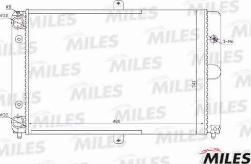Miles acrm480 - Радиатор, охлаждение двигателя autodnr.net