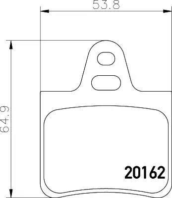 Mintex MDB1425 - Комплект тормозных колодок, дисковый тормоз autodnr.net