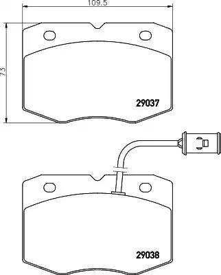Mintex MDB1561 - Комплект тормозных колодок, дисковый тормоз autodnr.net