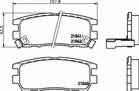 Mintex MDB1646 - Комплект тормозных колодок, дисковый тормоз autodnr.net