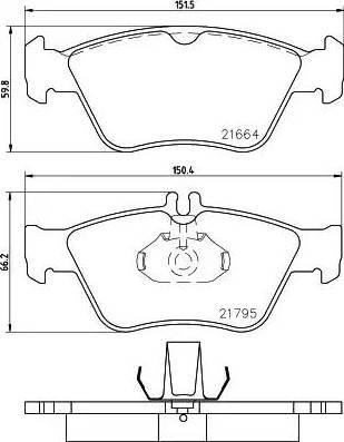 Mintex MDB1736 - Комплект тормозных колодок, дисковый тормоз autodnr.net