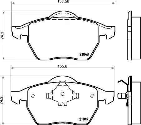 Mintex MDB1741 - Комплект тормозных колодок, дисковый тормоз autodnr.net
