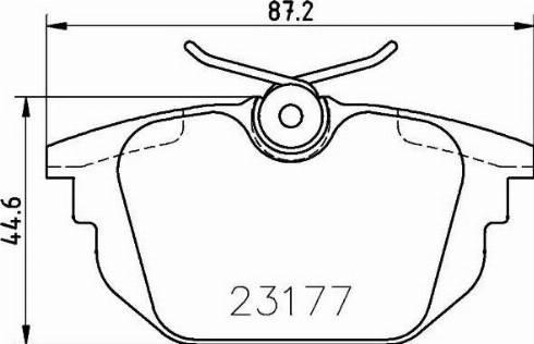 Mintex MDB1876 - Комплект тормозных колодок, дисковый тормоз autodnr.net