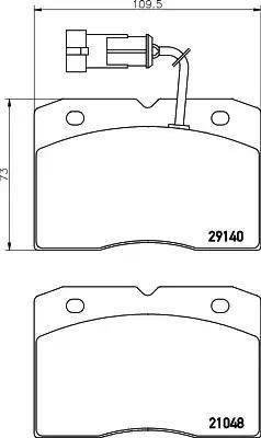 Mintex MDB2156 - Комплект тормозных колодок, дисковый тормоз autodnr.net