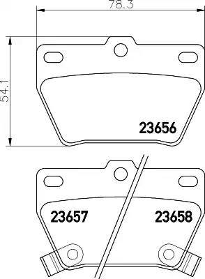 Mintex MDB2160 - Комплект тормозных колодок, дисковый тормоз autodnr.net