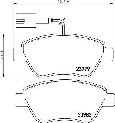 Mintex MDB2239 - Комплект тормозных колодок, дисковый тормоз autodnr.net