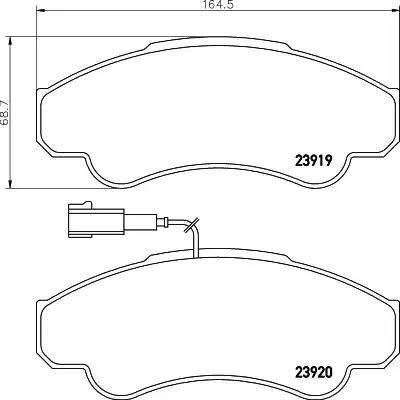 Mintex MDB2329 - Комплект тормозных колодок, дисковый тормоз autodnr.net