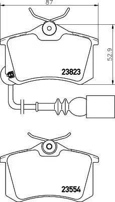 Mintex MDB2566 - Комплект тормозных колодок, дисковый тормоз autodnr.net