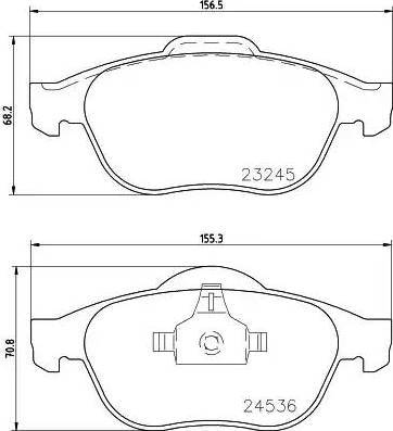 Mintex MDB2225 - Комплект тормозных колодок, дисковый тормоз autodnr.net