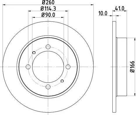 Mintex MDC1021 - Тормозной диск autodnr.net
