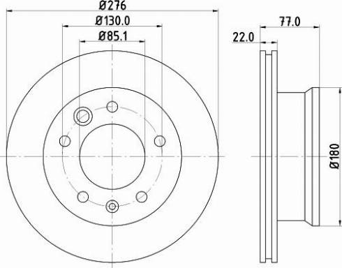 Mintex MDC1037C - Тормозной диск autodnr.net