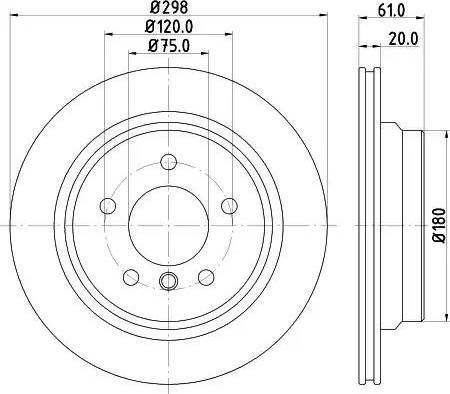 Mintex MDC1054 - Тормозной диск autodnr.net
