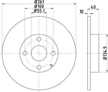Mintex MDC1402 - Тормозной диск autodnr.net
