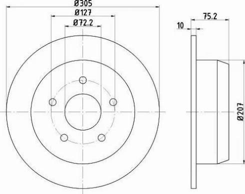 Mintex MDC1489 - Тормозной диск autodnr.net