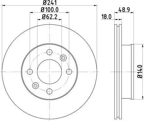 Mintex MDC1725 - Тормозной диск autodnr.net