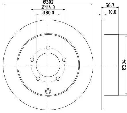 Mintex MDC2041 - Тормозной диск autodnr.net