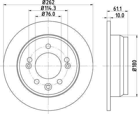 Mintex MDC2055C - Тормозной диск autodnr.net