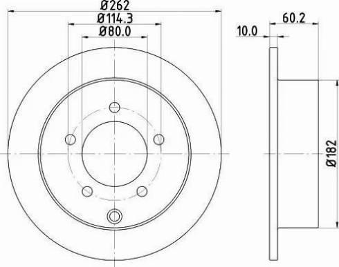 Mintex MDC2234 - Тормозной диск autodnr.net