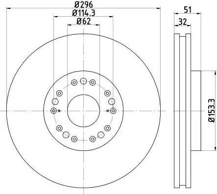 Mintex MDC2517 - Тормозной диск autodnr.net