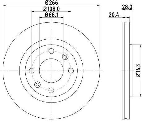 Mintex MDC990 - Тормозной диск autodnr.net