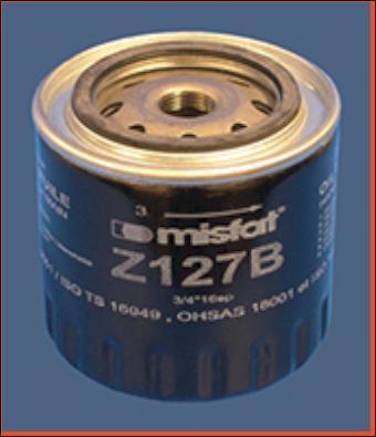 MISFAT Z127B - Масляный фильтр car-mod.com