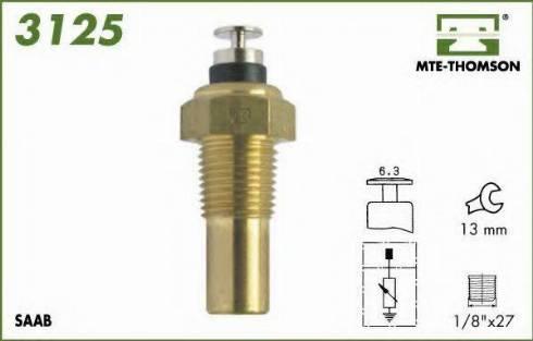 MTE-Thomson 3125 - Датчик, температура охлаждающей жидкости car-mod.com