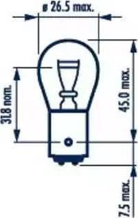 Narva 17882 - Лампа накаливания, задний габаритный фонарь autodnr.net