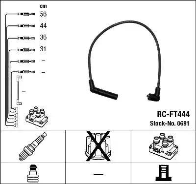 NGK 0691 - Комплект проводов зажигания avtokuzovplus.com.ua